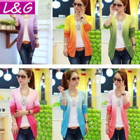 New 2014 Fashion Women Cardigan Hot Selling Big Size Mint Green Sweater Cardigans Autumn-Summer Knitted Sweater for Women 20007