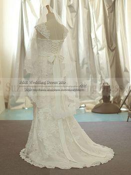 100% Soft Netting Белый or ivory Кружево Edge Короткий Bridal Veil Свадьба Accessories<br><br>Новое ...