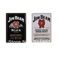 Free Shipping American Whisky Tin Signs for Bar Decor 2pcs/lot