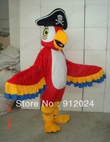 New adult PARROT PARAKEET W PIRATE HAT Mascot Costume Halloween gift costume characters sex dress hot sale