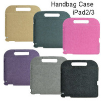 Portable Handbag Case for iPAD3 for Ipad2 Tablet Protective Case, Free shipping