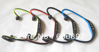 2013 hot sell Wrap Around Wireless Handsfree Headphones TF Card Slot Sports MP3 Player with FM Radio 2pcs/lot  Free shipping