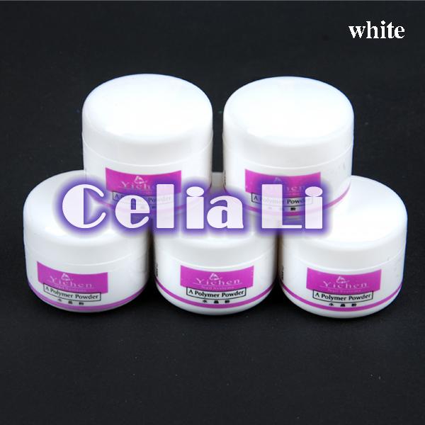5 pc nail white Acrylic Powder Liquid Art Tips UV gel glitter dust 1028(China (Mainland))