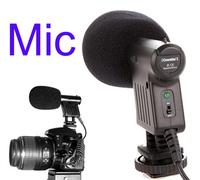 Professional Directional Video Condenser Shotgun Microphone low wind  vibration noise Mic for DV (D)SLR Camcorder
