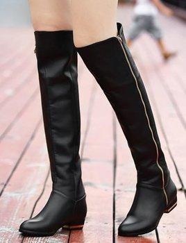 over knee natrual real Натуральная кожа flat boots Женщины snow winter warm shoes ...
