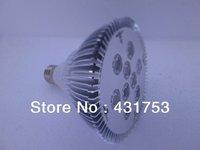 (Hot selling)Free Shipping 1pcs 2 Years Warranty CREE 27W (9*3W) 85V-265V/AC E27 High Power LED Spotlight PAR 38