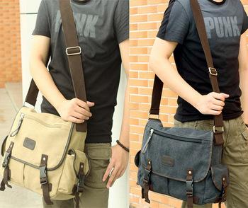 Men's Fashion Canvas Vintage Crossbody Satchel Hand bag Shoulder Casual Travel Handbag School Book Messenger Bag