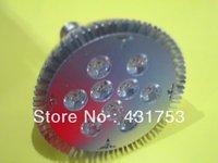 (Wholesale)10pcs 2 Years Warranty Free Shipping  CREE 27W (9*3W) 85V-265V/AC E27 High Power LED Spotlight PAR 38
