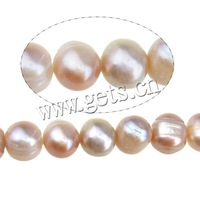 Free shipping!!!Potato Cultured Freshwater Pearl Beads,Luxury, natural, pink, A, 7-8mm, Hole:Approx 0.8mm, Length:14.5 Inch
