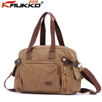 Free shipping Kaukko Vintage One Shoulder Bags Horizontal Canvas Casual Handbag  Messenger Bag