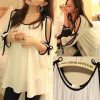 2014 summer new fashion women sexy half sleeve chiffon shirt off the shoulder princess short white dress Loose free shipping 16Z
