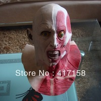 Half face mask dance party halloween mask cosmetic latex wigs cos devil
