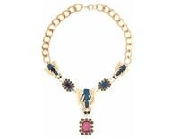 Hot 2013 fashion gold long necklace shining transparent acrylic stone for women