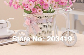 vine tricycle vase for Artificial flowers plants table Wedding Party Home Decoration gift craft arrangement wholesale retail