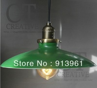 Warm Loft Industrial Style  French Retro Elegant  countryside warehouse chandeliers Black E27 , GREEN LAMP ,FREE SHIPPING
