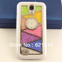 30% off new 100% handmade rainbow design bling case for samsung s4 i9500 for swarovskis cystal Retail package free shipping