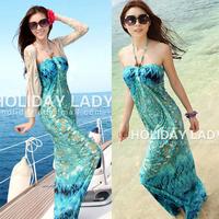 Free shipping 2013 bohemia beach full dress 8092