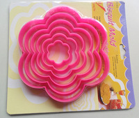 6p Flower Shape Muffin Sweet Candy Biscuit Jelly fondant Cake Mold tools cookie cutters B452 FREE SHIPPING