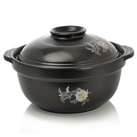 Black sand pot sauceboxes ceramic casserole porridge pot porridge pot soup pot with lid