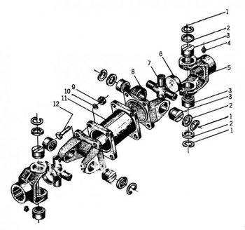 wheel loader spare parts CHANGLIN ZL50H MAIN DRIVE SHAFT