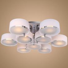 9 Lights Modern Acrylic Chandelier Light Ceiling living room Lighting 220-240V use 9 * E27 Fluorescent bulb (China (Mainland))