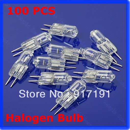 C18Free Shipping 100pcs Halogen Light Bulb 20W 20 Watt 12V G4 Base JC Type(China (Mainland))