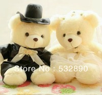 Free shipping Toy Wedding birthday gift Cotton Wholesale wedding gifts for couple 2PCS/lot stuffed toys Plush and Stuffed Toy