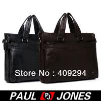 Free Shipping!New 2013! PJ Trendy Man  Business PU Shoulder Bag Messenger Tote Briefcase Black/Dark Brown GZ310