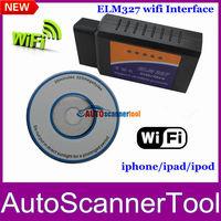 2013 Hot Selling WIFI ELM327 Wireless OBD2 Auto Scanner Adapter Scan Tool Works Via WIFI ELM327
