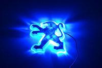 Free shipping Peugeot 307 sedan 8.7CM*7.9CM  PVC LED  Tail Lights / Car Emblem Light /  Car LED Logo Light