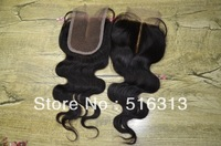 """Free Shipping!Hot Sale!100% Cheapest Factory Peruvian virgin hair,lace top closure,Middle parting,lace size 3.5""""*4"""" Body Wave"""