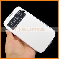 S View Cover Dormancy Function Flip Leather Case For Samsung Galaxy S4 i9500