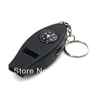 4 in 1 multifunctional compass/key chain compass/whistle/magnifying glass/thermometer