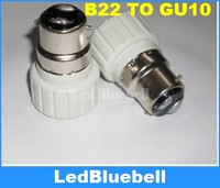 Wholesale 30pcs/lot, B22 to GU10 Light Lamp Bulbs Base Adapter Converter,Free Shipping