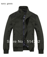Free Shipping, 2013 New Fashion Men Jacket Top quality green/khaki Plus size M-XXXL Wholesale&Retail MWJ062