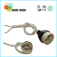 New arrival GU10 220-240V Ceramic Base Socket with 15cm wire