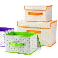 free shipping Fresh polka dot dual-order box clothing storage box sn1498