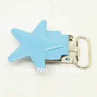 Free shipping!200pcs per lot,star shape suspender clip in Sky blue color,high quality Suspender Clips Suppliers&Manufacturers