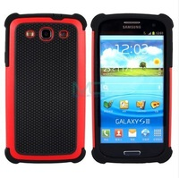 Red Rugged Rubber Matte Hard Case Cover for Samsung Galaxy S3 III i9300 S303G