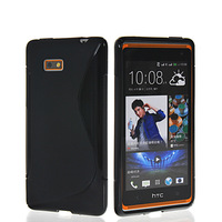NEW S LINE SKIN SOFT GEL TPU SILICONE CASE COVER FOR HTC DESIRE 600 606W FREE SHIPPING