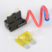 2PCS 12V ATO ATC Add A Circuit Fuse Tap Piggy Back Standard Blade Fuse Holder G0109