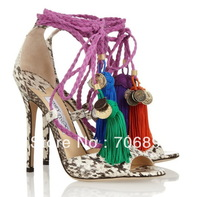 Olivia  Dream  Ankle Rop Tie  Elaphe Sandals 2013 platform python pumps women dress shoe