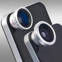 Fisheye Fish eye lens maganetic adsorption Lens for iPhone 4 for iPhone 5 iPod Nano 4G iPad Free shipping 10pcs/lot