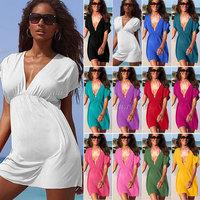 Hot Sale!2014 New Ladies Swimwear Beachwear Bikini Dress Bikini Blouse Outside 12 Colors