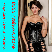 Free Shipping! Women Black Overbust  Corset Body Shaper (S-2XL)  HL5276