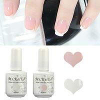 Shellac Gelishgel French White & Pink color UV LED Soak Off Gel Nail Polish free French Tips 15ml