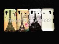 2pcs/lot free shipping Retro Old Paris LA Tour Eiffel Tower hard back Case For Samsung s5830 Galaxy Ace+1pcs flim