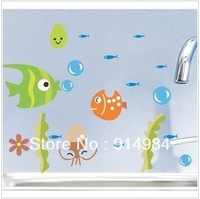 Free shipping parlour bedroom decoration Sofa TV background can remove Wall sticker Seaworld