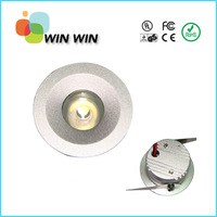 85-265V 1W LED Recessed Downlight Cabinet Lamp silver shell down light+ driver Free Shipping