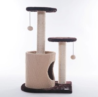 Double springboard belt cat climbing frame cat toy cat tree climbing frames cat scratch board